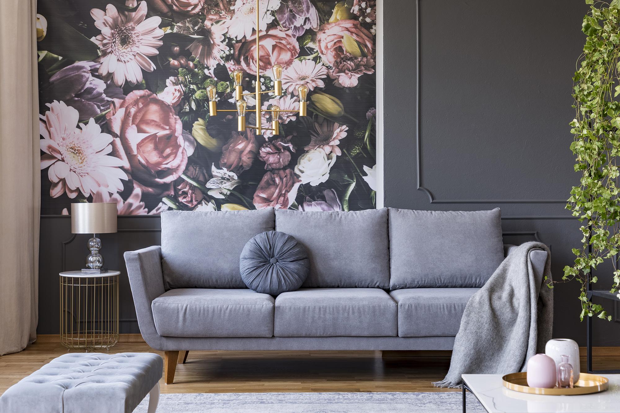 Afbeelding project Behangen van een woonkamer